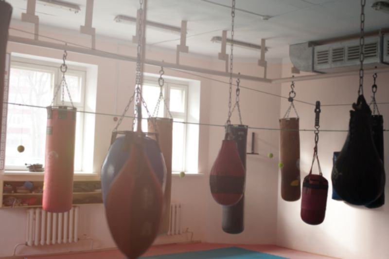 Different boxing bags